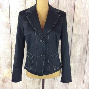 Worthington Black 2 Button Stretch Blazer Sz 8